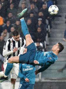 Torino 03/04/2018 - Champions League / Juventus-Real Madrid / foto Insidefoto/Image Sportnella foto: gol Cristiano Ronaldo